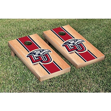 Victory Tailgate NCAA Hardcourt Striped Version Cornhole Game Set; Liberty Flames