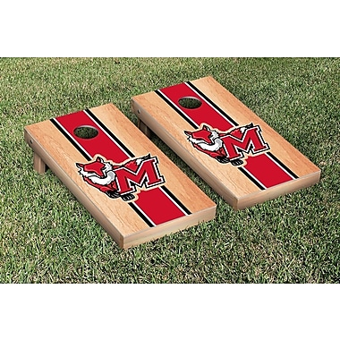 Victory Tailgate NCAA Hardcourt Striped Version Cornhole Game Set; Marist College Red Foxes