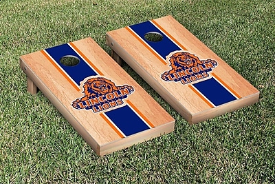 Victory Tailgate NCAA Hardcourt Striped Version Cornhole Game Set; Lincoln LU Lions
