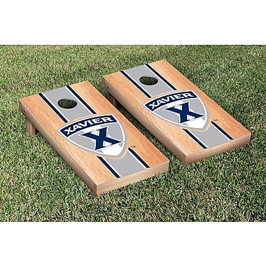 Victory Tailgate NCAA Hardcourt Striped Version Cornhole Game Set; Xavier Musketeers