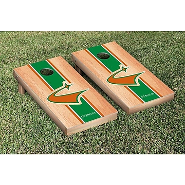 Victory Tailgate NCAA Hardcourt Striped Version Cornhole Game Set; Texas Dallas UTD Comets