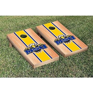 Victory Tailgate NCAA Hardcourt Striped Version Cornhole Game Set; Morehead State Eagles