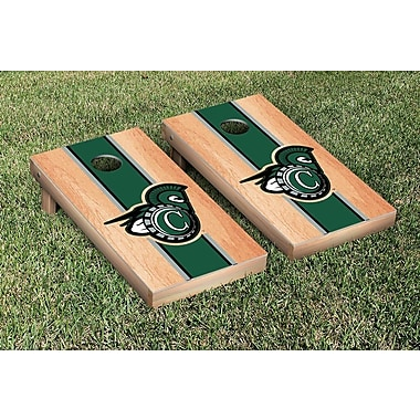 Victory Tailgate NCAA Hardcourt Striped Version Cornhole Game Set; Castleton State Spartans