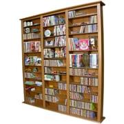 Venture Horizon VHZ Entertainment Large Triple Multimedia Storage Rack; Oak