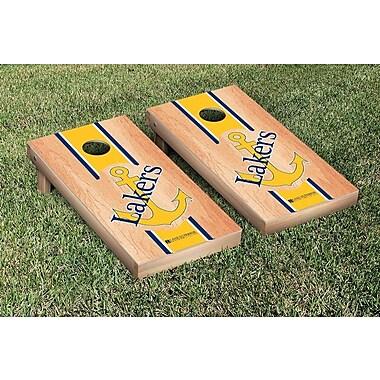 Victory Tailgate NCAA Hardcourt Striped Version Cornhole Game Set; Lake Superior State LSSU Lakers