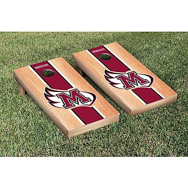 Victory Tailgate NCAA Hardcourt Striped Version Cornhole Game Set; Meredith Avenging Angels
