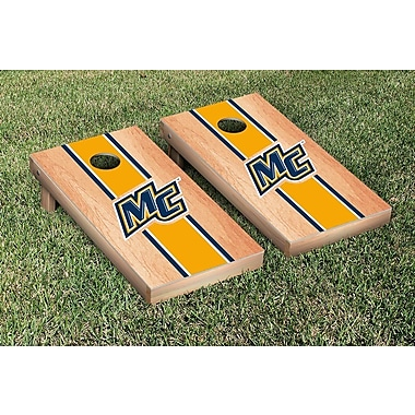 Victory Tailgate NCAA Hardcourt Striped Version Cornhole Game Set; Merrimack College MC Warriors