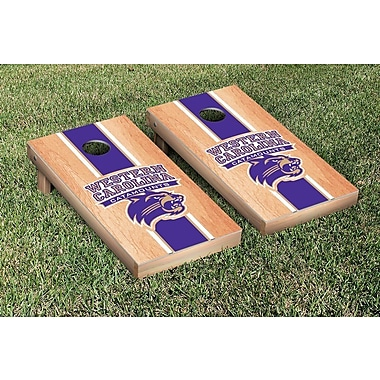 Victory Tailgate NCAA Hardcourt Striped Version Cornhole Game Set; Western Carolina Catamounts