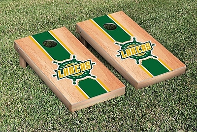Victory Tailgate NCAA Hardcourt Striped Version Cornhole Game Set; Oswego State SUNY Lakers