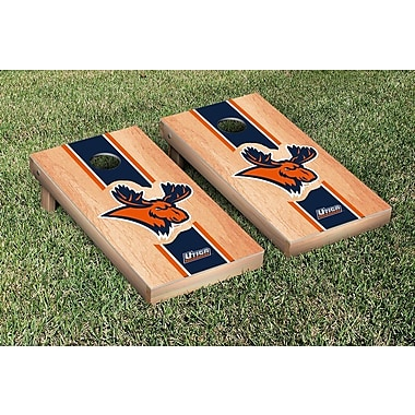 Victory Tailgate NCAA Hardcourt Striped Version Cornhole Game Set; Utica College Pioneers