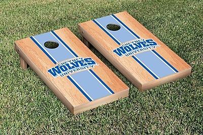 Victory Tailgate NCAA Hardcourt Striped Version Cornhole Game Set; Cheyney Wolves