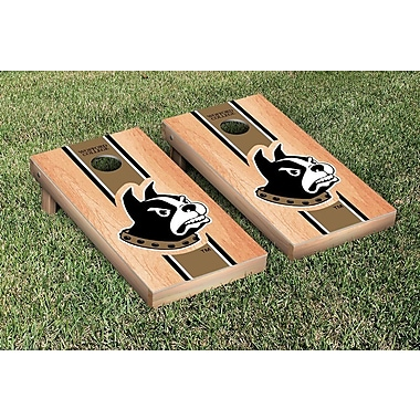 Victory Tailgate NCAA Hardcourt Striped Version Cornhole Game Set; Wofford Terriers