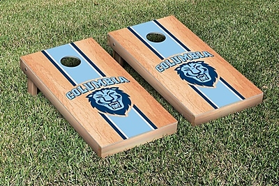 Victory Tailgate NCAA Hardcourt Striped Version Cornhole Game Set; Columbia Lions