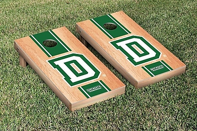Victory Tailgate NCAA Hardcourt Striped Version Cornhole Game Set; Dartmouth Big Green