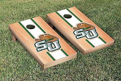 Victory Tailgate NCAA Hardcourt Striped Version Cornhole Game Set; Stetson Hatters