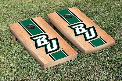 Victory Tailgate NCAA Hardcourt Striped Version Cornhole Game Set; SUNY Binghamton Bearcats
