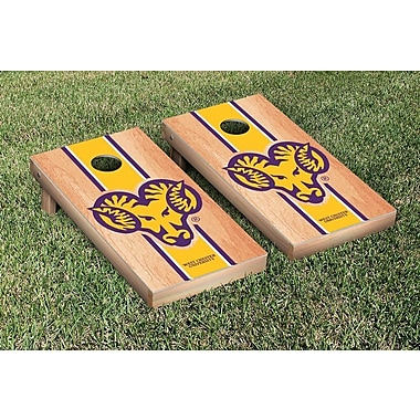 Victory Tailgate NCAA Hardcourt Striped Version Cornhole Game Set; West Chester Golden Rams