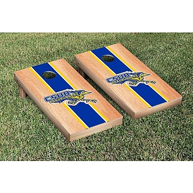 Victory Tailgate NCAA Hardcourt Striped Version Cornhole Game Set; Cal State Bakersfield Roadrunners