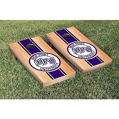 Victory Tailgate NCAA Hardcourt Striped Version Cornhole Game Set; High Point Panthers