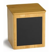 Tablecraft Square Write-on Bamboo Wood Storage Container; Large