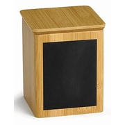 Tablecraft Square Write-on Bamboo Wood Storage Container; Small