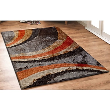 Rug Factory Plus Hand-Tufted Orange/Brown Area Rug