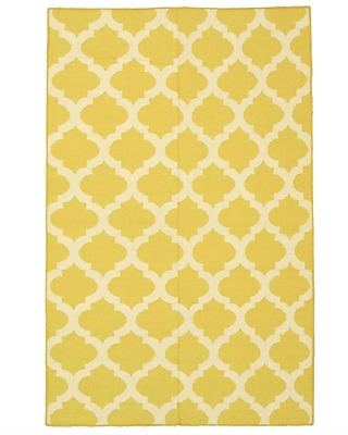 Eastern Rugs Moroccan Handmade Yellow Area Rug; 5' x 8'