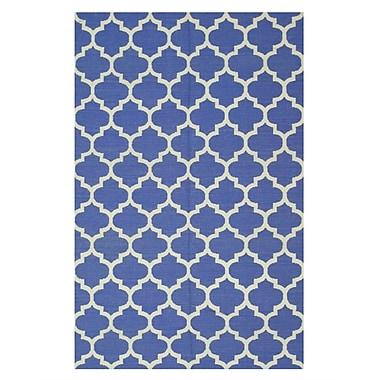Eastern Rugs Moroccan Handmade Blue Area Rug; 8' x 10'