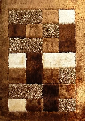 Rug Factory Plus Hand-Tufted Brown/Beige Area Rug