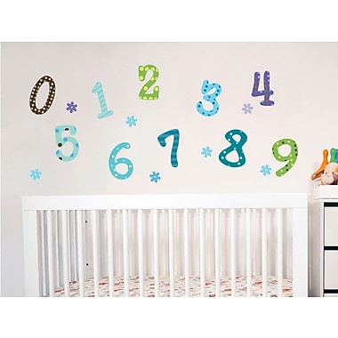 Wall Decal Source Number and Flower Wall Decal; Scheme B