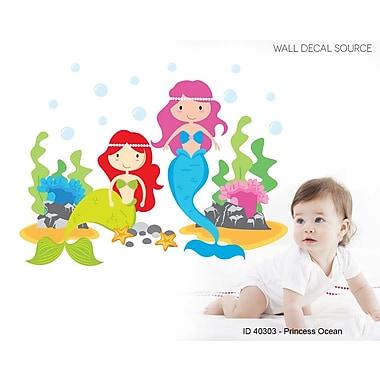Wall Decal Source Ocean,Fish and Sea Animals Mermaid Nursery Wall Decal; Scheme A
