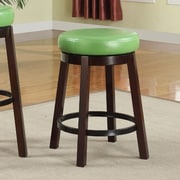 Roundhill Furniture 24'' Swivel Bar Stool (Set of 2); Green