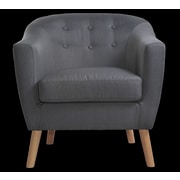 NathanielHome Jason Arm Chair; Dark Gray