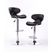AttractionDesignHome Adjustable Height Swivel Bar Stool (Set of 2)