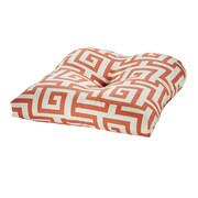 Tempo Terrasol Outdoor Dining Chair Cushion; Coral