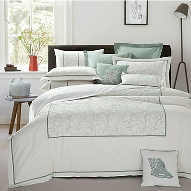Lifestyle Bedding Solutions Guilloche 3 Piece Duvet Cover Set; Queen