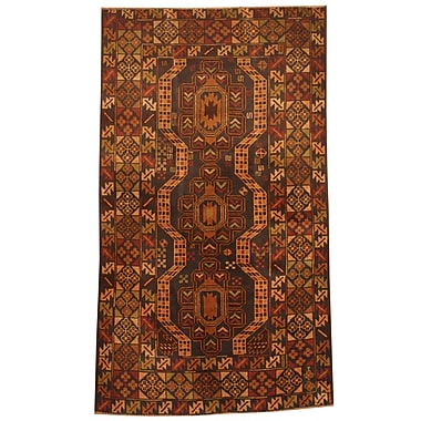 Herat Oriental Balouchi Hand-Knotted Red/Beige Area Rug
