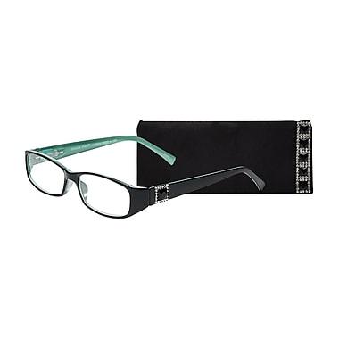 Select-A-Vision Victoria Klein Crystals +2.75 Reading Glasses, Demi Green, Square Accent (E9092GS-275)