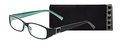 Select-A-Vision Victoria Klein Crystals +2.75 Reading Glasses, Demi Green, Square Accent (E9092GS-275)