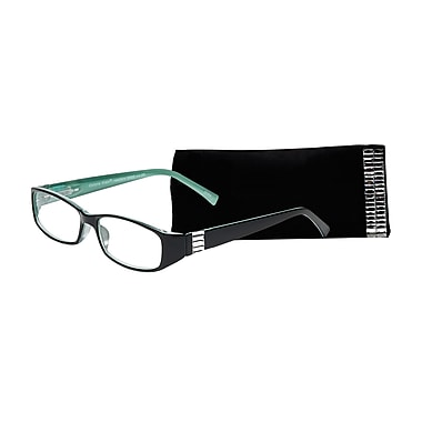 Select-A-Vision Victoria Klein Crystals Reading Glasses, Demi Green, Rectangle Accent