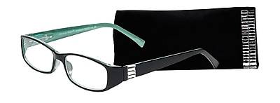 Select-A-Vision Victoria Klein Crystals +1.75 Reading Glasses, Demi Green, Rectangle Accent (E9092GR-175)