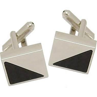 Elegance Nickel Plated Carbon Fibre Cufflinks