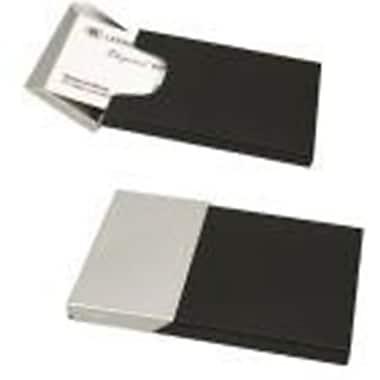Elegance – Étui pour cartes professionnelles, noir mat et chrome