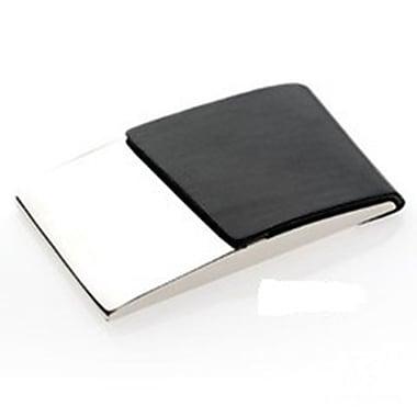 Elegance – Étui pour cartes professionnelles, PU noir/nickel