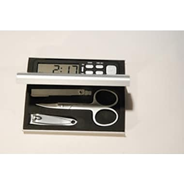 Elegance Manicure Travel Set with Alarm Clock