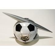 Elegance – Porte-stylo avec distributeur de trombones en forme de ballon de soccer