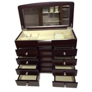 Elegance Jewellery Box, 4 Drawers, Anti-Tarnish Felt