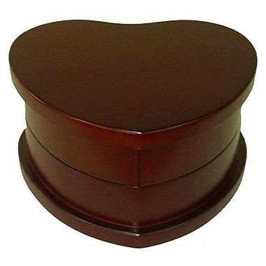 Elegance Heart Shaped Wood Jewellery Box