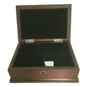 Elegance Wood Rectangular Jewellery Box, Mahogany