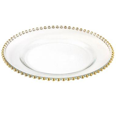 Elegance – Ensemble de 4 sous-assiettes à billes dorées de 13 po